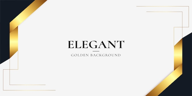 Fond d & # 39; affaires élégant et moderne avec des ornements en or