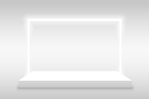 Fond d'affichage du produit avec cadre clair