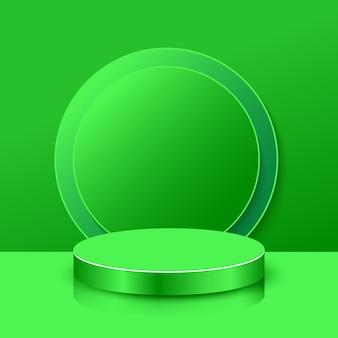 Fond d'affichage de produit podium vert