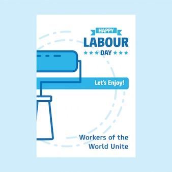 Fond d'affiche de la fête du travail heureux
