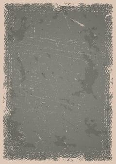 Fond d'affiche grunge avec rayures, taches et cadre texturé