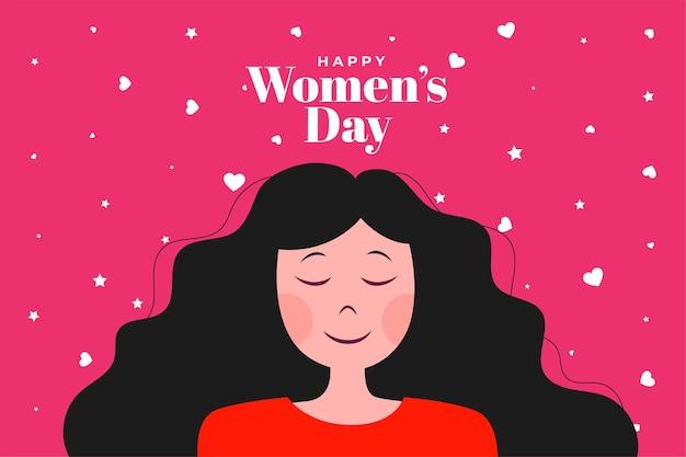 Fond d'affiche de la journée des femmes heureux