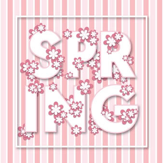 Fond d'affiche printemps floral polyvalent moderne