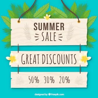 Fond d'affiche de vente d'été