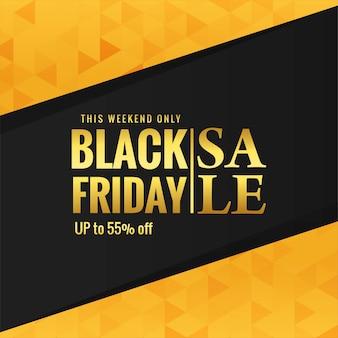 Fond d'affiche de vente vendredi noir doré