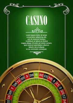 Fond d'affiches de logo de casino