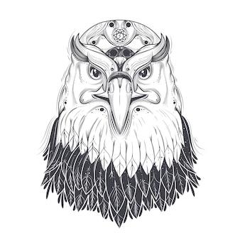Fond d'aigle isolé