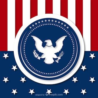 Fond américain avec la silhouette d'aigle