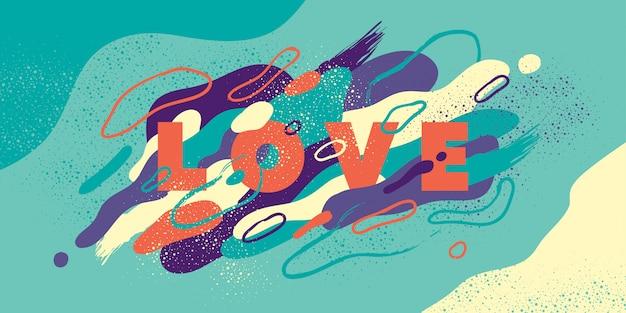 Fond d'amour abstrait