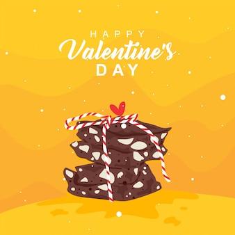 Fond d'amour au chocolat