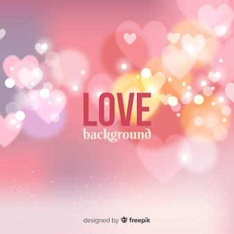 Fond d'amour coeurs flou