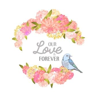 Fond d'amour floral