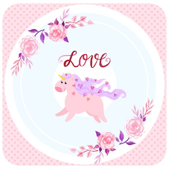 Fond d'amour licorne