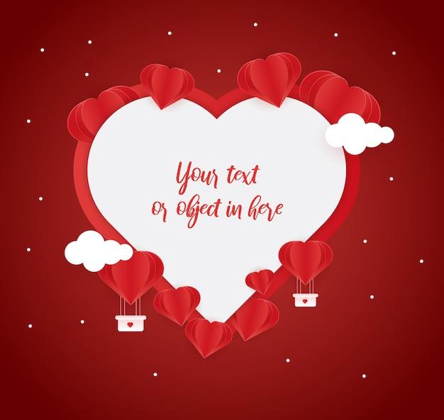 Fond d'amour pour la fête de la saint-valentin