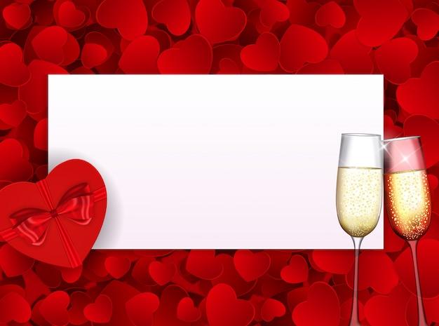 Fond d'amour saint valentin avec fond