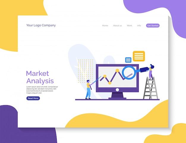 Fond d'analyse de marché pour site web.