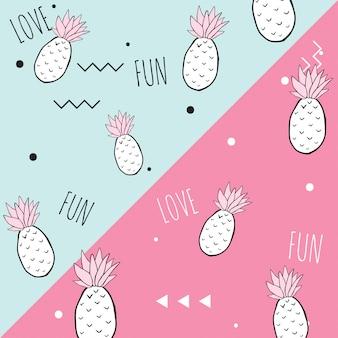 Fond d'ananas mignon