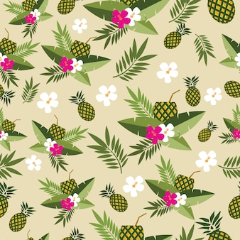 Fond ananas