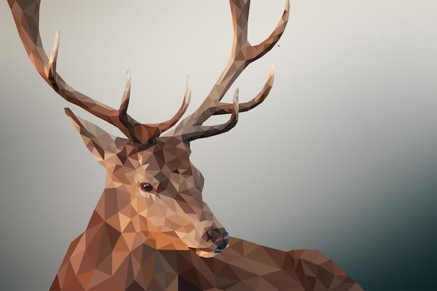 Fond animal polygonal géométrique de cerf