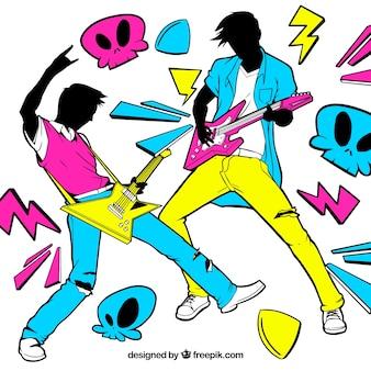 Fond des années 80 des guitaristes