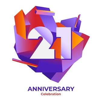 Fond d'anniversaire dégradé 21