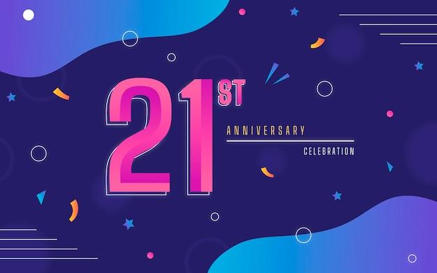 Fond D'anniversaire Dégradé 21 Vecteur gratuit