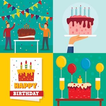 Fond d'anniversaire de gâteau