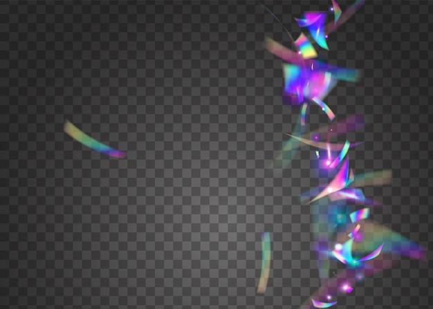 Fond d'anniversaire. modèle de noël en métal. texture de carnaval. éblouissement disco violet. paillettes transparentes. éclat brillant. feuille de fantaisie. art scintillant. fond d'anniversaire rose
