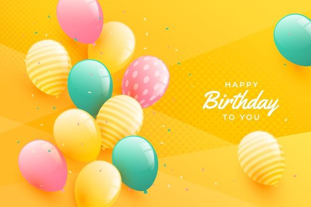 Fond D'anniversaire De Style Dégradé Vecteur gratuit