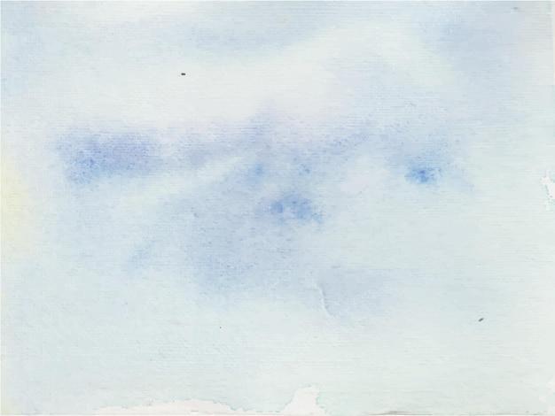 Fond aquarelle abstrait bleu clair, peinture à la main. éclaboussures de couleur sur le papier