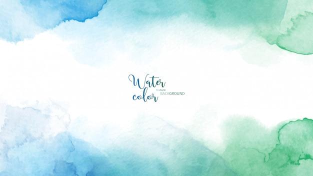 Fond aquarelle abstrait bleu vert