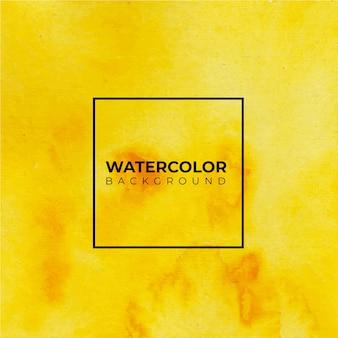 Fond aquarelle abstrait jaune.