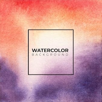 Fond aquarelle abstrait marron violet, éclaboussures de couleur sur le papier