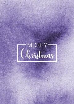 Fond aquarelle abstraite de noël violet