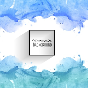 Fond aquarelle abstraite splash bleu