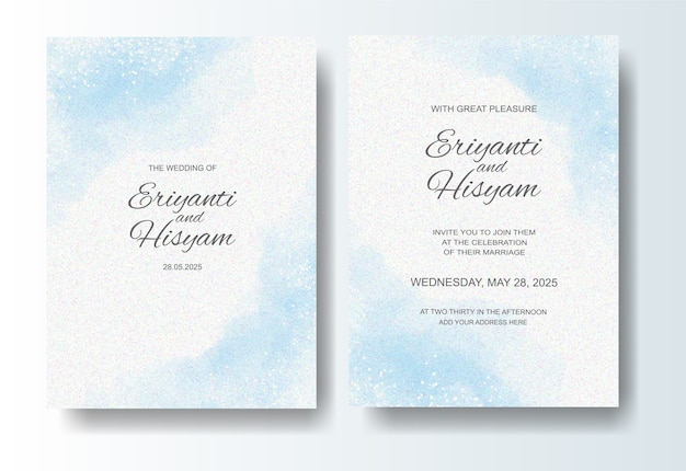 Fond aquarelle belle carte de mariage avec splash