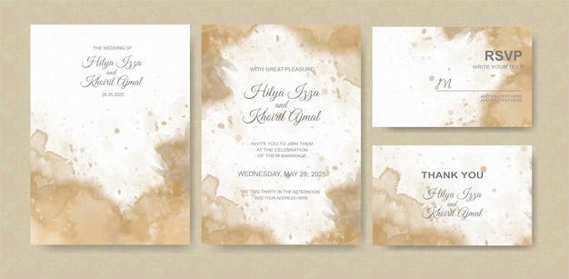 Fond aquarelle belle carte de mariage