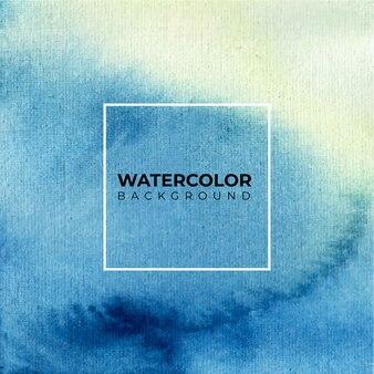 Le fond aquarelle bleu dessiné à la main. papier aquarelle.