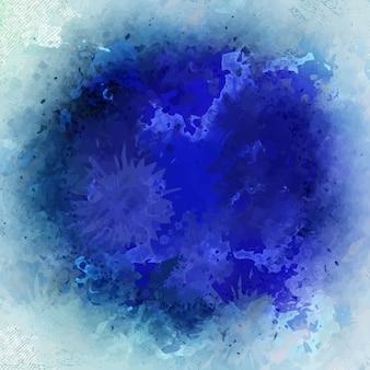 Fond d'aquarelle bleu