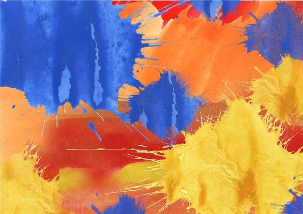 Fond aquarelle coloré arc-en-ciel abstrait