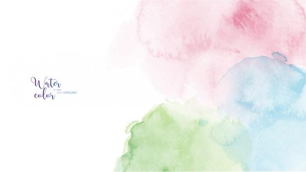 Fond aquarelle coloré tache abstraite