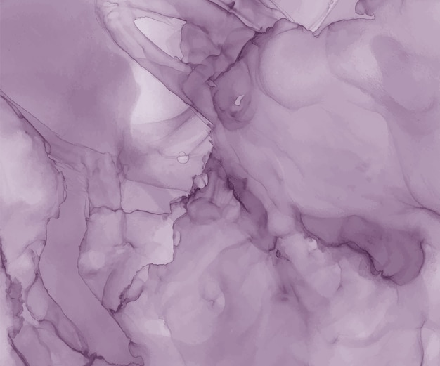 Fond aquarelle d'encre violet alcool