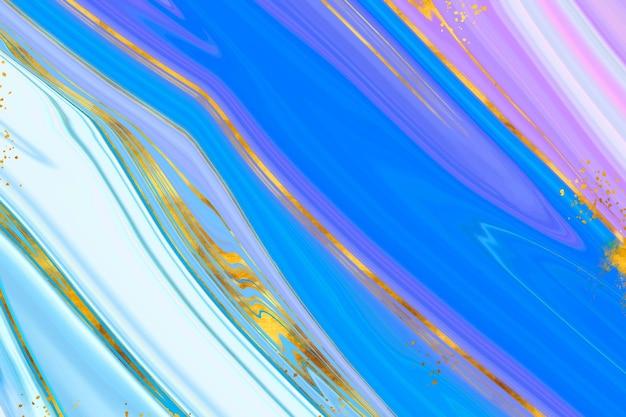 Fond aquarelle avec feuille d'or