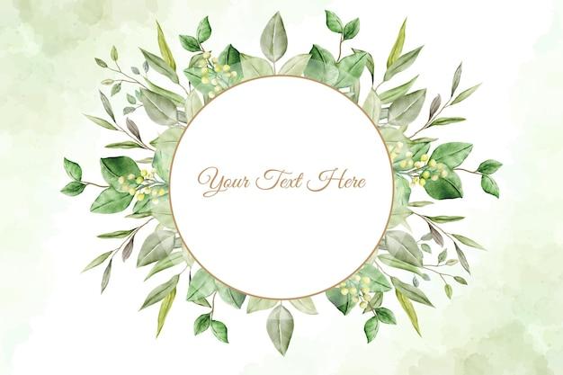 Fond avec aquarelle de feuilles florales