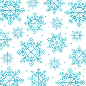 Fond aquarelle de flocons de neige de noël