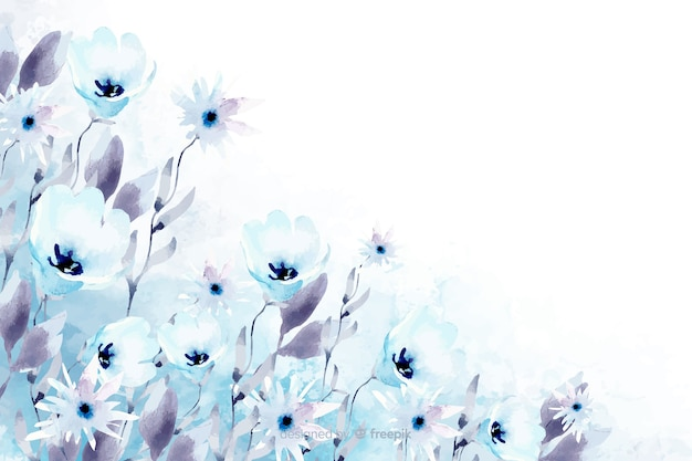 Fond aquarelle floral avec des couleurs douces