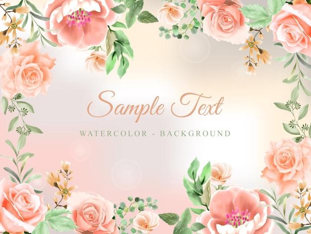 Fond aquarelle floral romantique