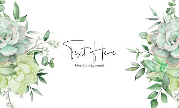 Fond aquarelle floral de verdure de luxe