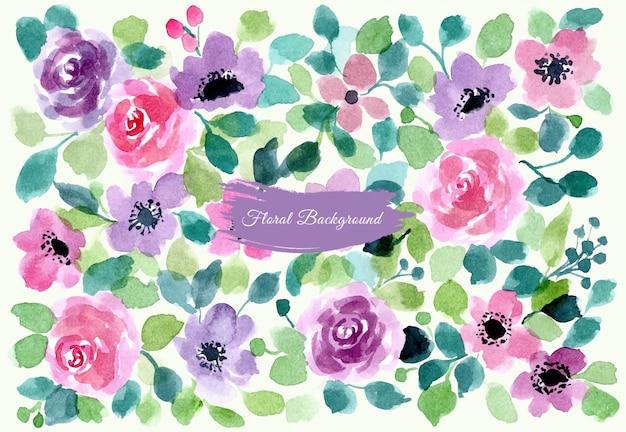 Fond aquarelle floria