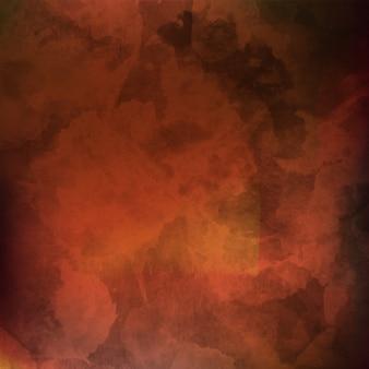 Fond aquarelle flou brun avec des nuances de couleur orange jaune